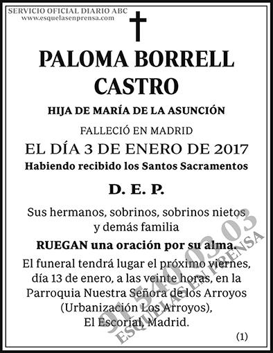 Paloma Borrell Castro